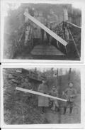 1915 Secteur Soupir Chavonne Officiers Allemands Du  I.R 35 Devant Leur Villa Sur Le Front 2 Cartes Photos 14-18 Ww1 - War, Military