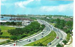 SINGAPORE - MERDEKA BRIDGE SINGAPORE    - VIAGGIATA 1969 - (392) - Singapore