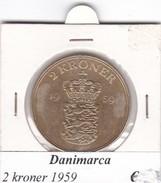 DANIMARCA   2  KRONER  1959  COME DA FOTO - Danimarca