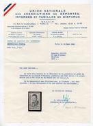 !!! LETTRE DE E. DEBEAUMARCHE A UN COMPAGNON DE DEPORTATION, AVEC LE TIMBRE A SON EFFIGIE - Marcofilie (Brieven)