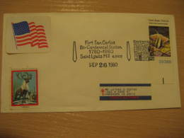 FORT SAN CARLOS BI-CENTENNIAL Military SAINT LOUIS 1980 Cancel Cover USA - Militaria