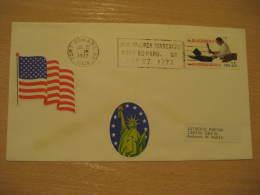 JANE McCREA MASSACRE Military FORT EDWARD 1977 Cancel Cover USA - Militaria