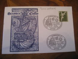 POSTVERK Hamburg 1980 Faroe Islands Cancel Card GERMANY Denmark - Färöer Inseln