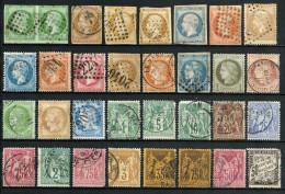 France Collection 31 Timbres Napoléon Cérès Sage - COTE 1560 € - Défauts