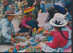 °°° 3747 - PERU - CUSCO - MERCADO DE PISAC - 1982 With Stamps °°° - Perù