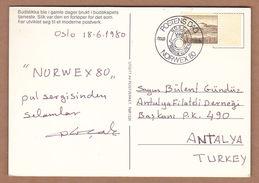 AC- NORWAY POSTAL STATIONARY - NORWEX 80 OSLO, 18.06.1980