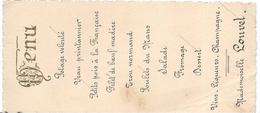 Menu / 2 Exemplaires / Monsieur Et Mademoiselle LOUVET//1930           MENU188 - Menus
