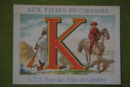 Chromo Alphabet - Aux Filles Du Calvaire - Lettre K - Kabyle - Kalmouk - Lith Bognard - Vers 1880