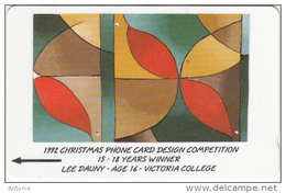 JERSEY ISL. - 1992 Christmas Phonecard Design Competition 4, CN : 23JERD(normal 0), Tirage %25000, Used