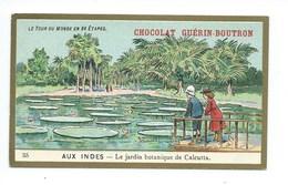 Chromo Inde Calcutta Tour Du Monde Pub: Chocolat Guerin-Boutron 105 X 65 Mm  TB - Guérin-Boutron