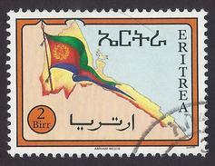 1994 - Eritrean Flag And Map - Yt:ER 246 - Used - Eritrea