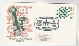 1977 GB Stamps EVENT COVER   WILLIAM BREGG Physics Health Market Harborough GRAMMAR SCHOOL - Medicine