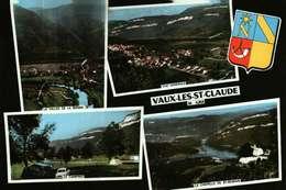 Carte Postale Dentelée (39)   VAUX-les-ST-CLAUDE  -   Multivues Et Blason - Francia