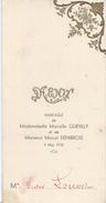 Menu / Mariage ( Quevilly Déparrois) / Déjeuner - Diner Victor LOUVET/ 4 Mai 1935     MENU191 - Menus