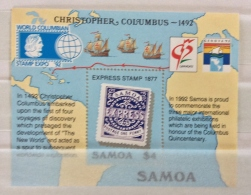 Samoa 1992  500TH DISCOVERY AMERICA SHEET MNH - Samoa