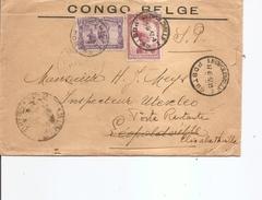 Congo Belge ( Lettre  De 1937 De Léopoldville Vers L'intérieur Et Réexpédiée Vers Elisabethville à Voir)