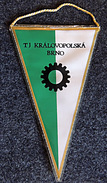 Football - Fanion Ancien Du TJ Kralavopolska BRNO Années 60 (à Brno En Tchécoslovaquie) - Apparel, Souvenirs & Other