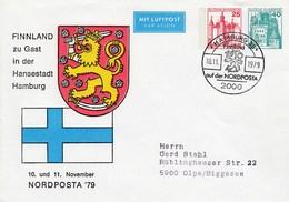 PP 180/2a Finnland Zu Gasdt In Der Hansestadt Hamburg - NORDPOSTA´79, Hamburg 36 - [7] República Federal