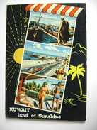 1972  KUWAIT   TIMBRE  Kuwait Oil Tanker   Agency Branch  Marine   PIN  UP  FEMME BIKINI  COSTUME  POSTCARD  USED - Kuwait