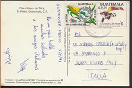 °°° 3757 - GUATEMALA - TIKAL - PLAZA MAYOR - 1991 With Stamps °°° - Guatemala