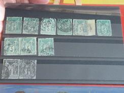France > 1849-1900 > 1876-1878 Sage -  Lot Sage Type 1 - Y&T - Forte Cote 495 € - 1876-1878 Sage (Type I)