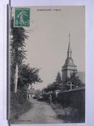 76 - AUBEGUIMONT - L'EGLISE - ANIMEE - 1910 - Frankreich