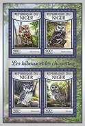 NIGER 2017 SHEET OWLS HIBOUX EULEN BUHOS CORUJAS CHOUETTES LECHUZAS BIRDS AVES PASSAROS UCCELLI OISEAUX Nig17115a - Niger (1960-...)