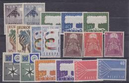 Europa Cept 1957 Year Set 9 Countries 18 Values ** Mnh (original Gum !!!) (35390) - Europa-CEPT