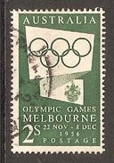 003405 Australia 1955 Olympics 2/- FU - 1952-65 Elizabeth II : Pre-Decimals