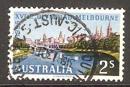 003407 Australia 1956 Olympics 2/- FU - 1952-65 Elizabeth II : Pre-Decimals