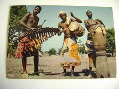 L'Afrique En Couleurs - Séance De Tam-tam - Timbre  CAMEROUN  CAMERUN    POSTCARD   USED - Camerun