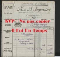 10 TROYES - M. & A. IMPERATORI - Miroiterie Et Vitrerie - 1952 - 1950 - ...