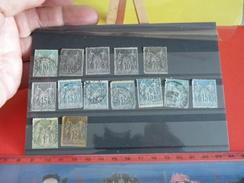 France > 1849-1900 > 1876-1878  Lot Sage Type I & II  1876-78 - Y&T - Cote 61 € - 1876-1878 Sage (Type I)