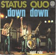 "STATUS QUO ""DOWN DOWN/NIGHT RIDE"" 45 Tours DISQUE VINYL - Hard Rock & Metal"