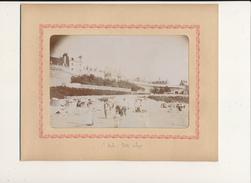 SAINT MALO, La Petite Plage - Photo Glissée Dans Un Cadre Carton Légendé - 2 Scans - Foto's