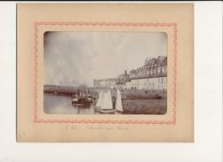 SAINT MALO, Embarcadère Pour Dinard - Photo Glissée Dans Un Cadre Carton Légendé - 2 Scans - Foto's