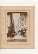 SAINT MALO, Grande Rue - Photo Glissée Dans Un Cadre Carton Légendé - 2 Scans - Photographs