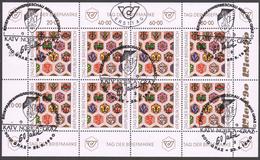 """Österreich 1990:  ET/  Kleinbogen Lose """"Tag Der Briefmarke"""" (siehe Foto/ Scan) - Blocs & Feuillets"""