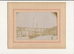 DINAN , Viaduc Sur La Rance - Photo Glissée Dans Un Cadre Carton Légendé - 2 Scans - Photographs