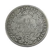 50 Centimes - France - Cérès -  Argent 900/..- 1888 A  -  TB - - G. 50 Centimes