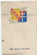 Menu /madame Emile  Bossuet / Avec Dessin à La Main   /Vers 1945           MENU197 - Menus