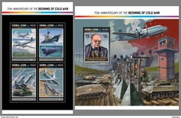 SIERRA LEONE 2017 - Cold War, Planes. M/S + S/S. Official Issue. - History