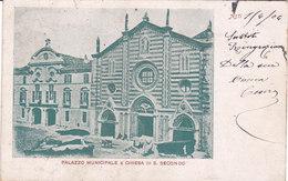 CARD ASTI PALAZZO MUNICIPALE CHIESA DI SAN SECONDO MERCATO  FP-V-2-0882-27224 - Asti