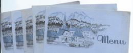 Menu /6 Menus Vierges Publ. Identiques/Liqueur De La Grande Chartreuse/Bruyére/Saint-Etienne / Vers1930-40       MENU199 - Menus