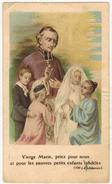 IMAGE PIEUSE HOLY CARD SANTINI CHROMO HEILIG PRENTJE : Vierge Marie Priez Pour Nous Oeuvre De La Sainte Enfance - Images Religieuses