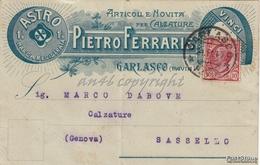 """PUBBICITA'_ADVERTISING_REKLAM_""""ASTRO""""Marca Registrata_Articoli E Novità Per Calzature_Pietro Ferrari_Garlasco-Vg 1917- - Pubblicitari"""