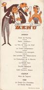 "Menu Humoristique/ Reproduction Interdite/""Amer De Pourtoy"" / Vers 1950      MENU202 - Menus"