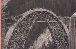 OUDE POSTKAART ZWITSERLAND -  SCHWEIZ  -     ALBULA BAHN - WIESENER VIADUKT IN ANBAU 1909/10 - GR Grisons