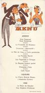 "Menu Humoristique/ Reproduction Interdite/""Kina Passouaf"" / Vers 1950      MENU203 - Menus"