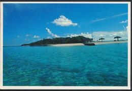 °°° 3771 - MALDIVES - SURFING BEACH AT DHIGUFINOLHU ISLAND RESORT - 1998 With Stamps °°° - Maldive